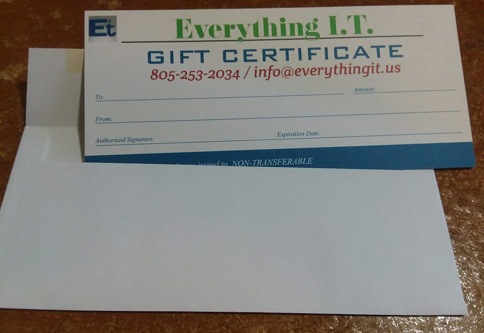 Give the Gift of I.T.