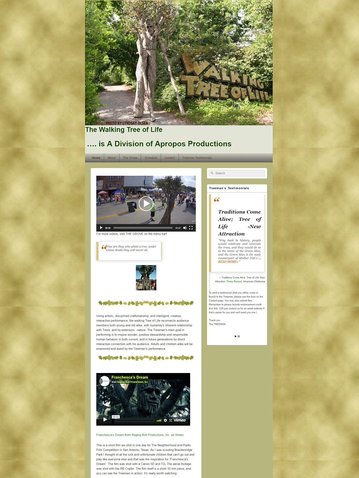 Tree of Life Homepage